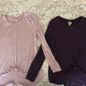 Bundle of 2 Mossimo long sleeve tops